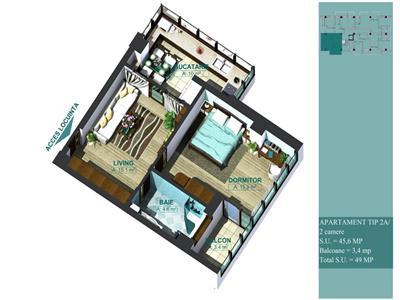 Apartament 2 camere | Carrefour Felicia | Langa mijloc de transport