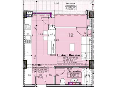 Apartament 1 camera, zona Palas   Proiect Nou   Decomanadat