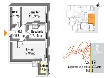 Apartament Nou, 2 camere - Cug