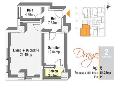 Apartament  2 camere - Cug | Rate la dezvoltator pe 5, 10, 15 ani | Langa statie RATP