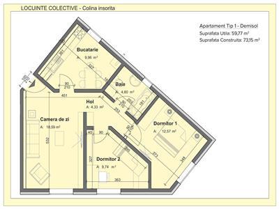 Apartament 3 camere, Pacurari - Alpha Bank | Finalizat