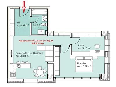 Apartament 3 camere | Tatarasi - Ateneu |