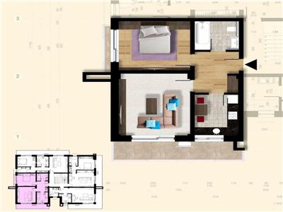 Apartament 3 camere | Bucium | Bloc nou | Decomandat