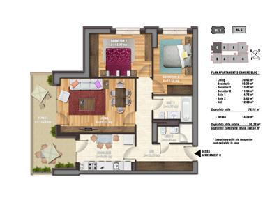 Apartament 3 camere Timpuri Noi | La 2 minute de metrou