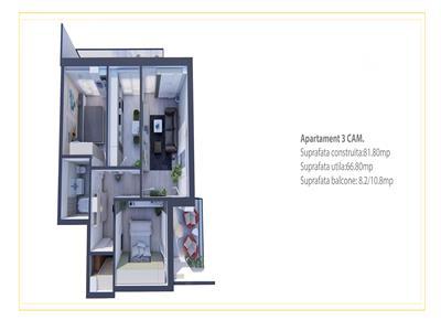 Apartament 3 camere   Decomandat   Bucium   La strada principala