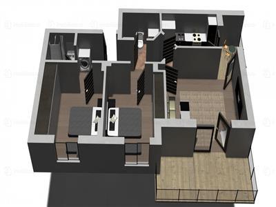 Apartament 3 camere - Baba Novac   Proiect deosebit   Metrou